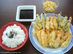 Prawn and Vegetables Tempura with Rice